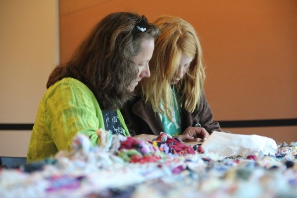 Crochet jam with artist Ramekon O'Arwisters during Friday Nights at the de Young