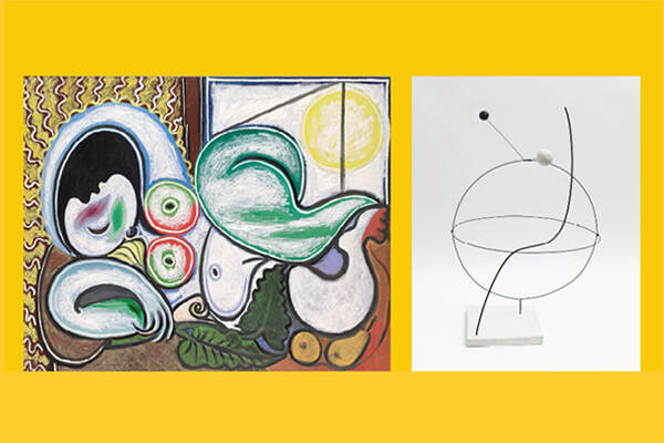"Artwork by Pablo Picasso, ""Nu couche"" [""Reclining Nude""] and Alexander Calder, ""Croisière"""