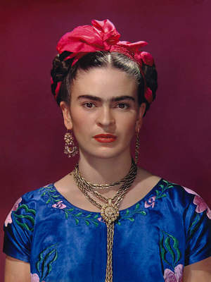 Nickolas Muray, Frida in Blue Dress, New York City, 1939.