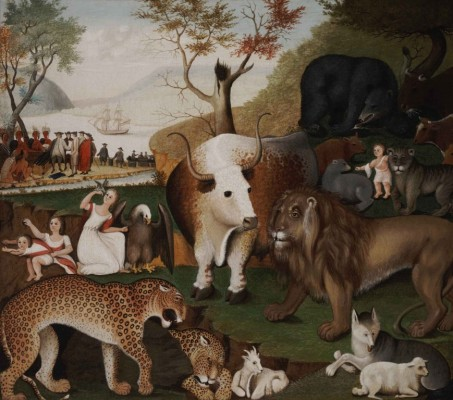 "Edward Hicks, ""The Peaceable Kingdom"", ca. 1846."