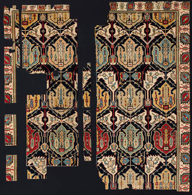 Fragment (flower carpet), 2nd half of the 17th century