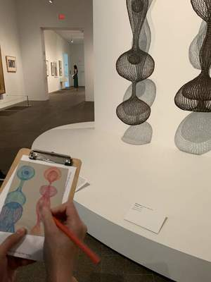 Sketching in the Galleries at the de Young museum