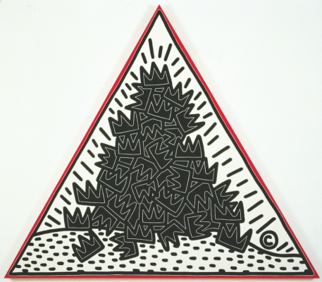 A Pile of Crowns for Jean-Michel Basquiat by Keith Haring