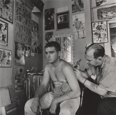 Danny Lyon, Bill Sanders, Tattoo Artist, Houston, Texas, 1968