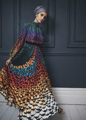 MARY KATRANTZOU skirt and shirt; courtesy of The Modest and Brian Daly.