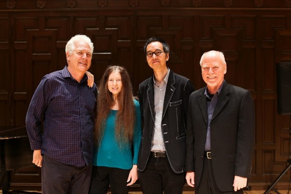 Chris Brown, Maggi Payne, James Fei, John Bischoff. Photo by Greer Rivera