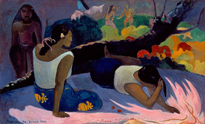 Paul Gauguin, Reclining Tahitian Women, 1894. Oil on canvas, 23 5/8 x 19 1/4 in. (60 x 49 cm). Ny Carlsberg Glyptotek, Copenhagen, 1832. Photograph by Ole Haupt, © Ny Carlsberg Glyptotek, Copenhagen