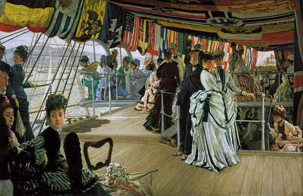 James Tissot, The Ball on Shipboard, ca. 1874