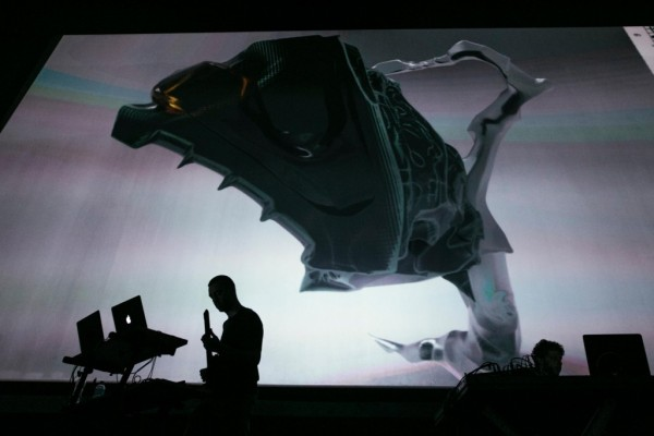 "Nate Boyce performing ""Kaoss Etudes"" at Red Bull Music Festival, Sao Paolo"