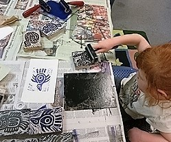 Printmaking project with Peopologie.