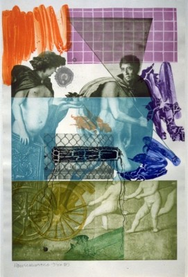 Robert Rauschenberg color photogravure