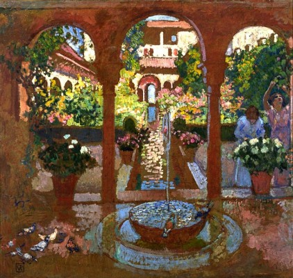 van Rysselberghe, Garden of the Generalife in Granada