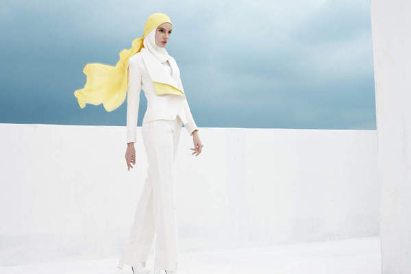 Haslinda Abdul Rahim for Blancheur Contemporary Muslim Fashions at the de Young Museum