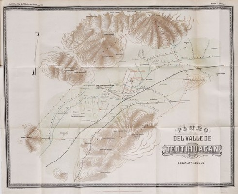 Plan of the Teotihuacan Valley drawn by Ignacio Marquina.