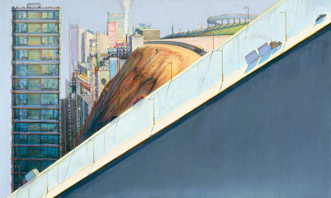 Wayne Thiebaud, Diagonal Freeway, 1993
