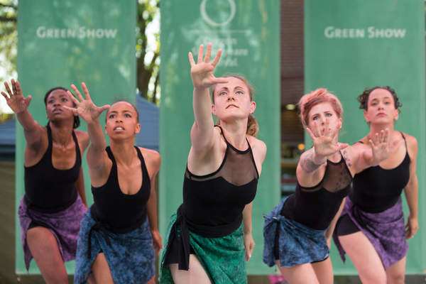 Photograph of Urban Jazz Dance Company performing
