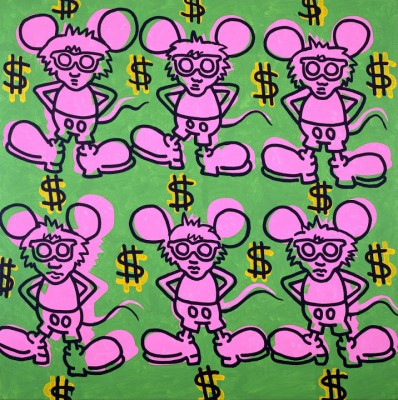Keith Haring, Andy Mouse, 1985. Private collection. Keith Haring artwork © Keith Haring Foundation