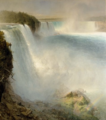 Frederic Edwin Church, Niagara Falls, from the American Side, 1867. Oil on canvas. Scottish National Gallery