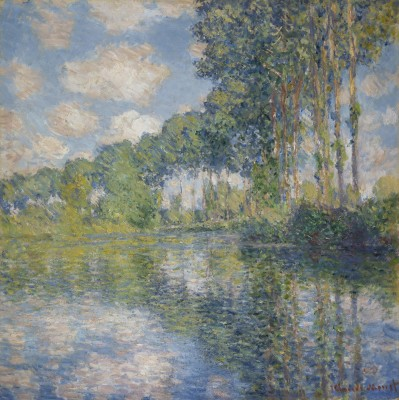 Claude Monet, Poplars on the Epte, 1891. Oil on canvas. Scottish National Gallery