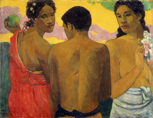 Paul Gauguin, Three Tahitians, 1899. Oil on canvas. Scottish National Gallery