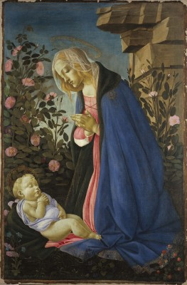 Sandro Botticelli, The Virgin Adoring the Sleeping Christ Child, ca.1490. Tempera and gold on canvas. Scottish National Gallery