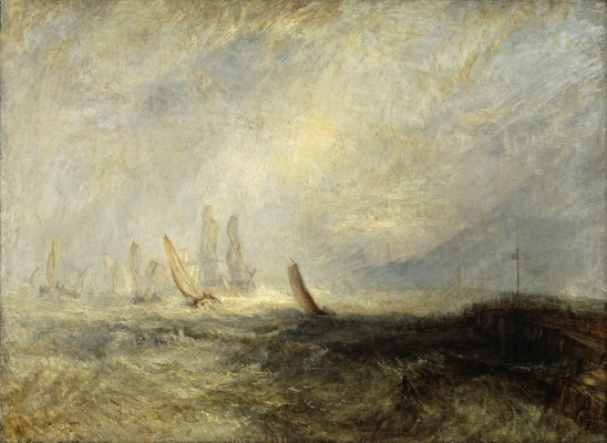 Joseph Mallord William Turner, Fishing Boats Bringing a Disabled Ship into Port Ruysdael, exhibited 1844. Oil on canvas. Tate, accepted by the nation as part of the Turner Bequest, 1856, N00536. Image © Tate, London 2015
