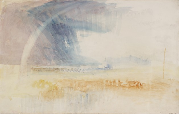 Joseph Mallord William Turner, Rainbow Among Purple and Blue Clouds, ca. 1840–1845. Watercolor on paper. Tate, accepted by the nation as part of the Turner Bequest, 1856, D36302. Image © Tate, London 2015