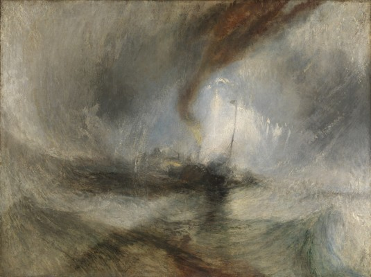 Joseph Mallord William Turner, Snow Storm—Steam-Boat off a Harbour's Mouth, exhibited 1842. Oil on canvas. Tate, accepted by the nation as part of the Turner Bequest, 1856, N00530. Image © Tate, London 2015