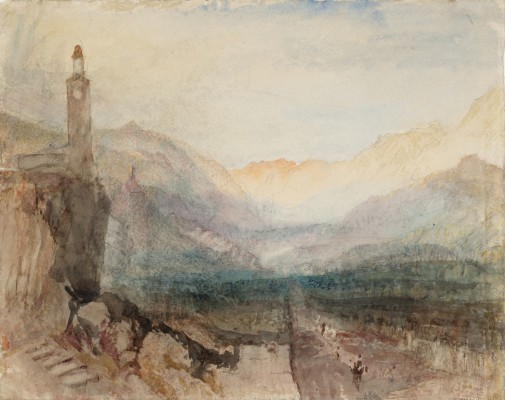 Joseph Mallord William Turner, The Pass of the Splügen: Sample Study, ca. 1841–1842. Graphite and watercolor on paper. Tate, accepted by the nation as part of the Turner Bequest, 1856, D36125. Image © Tate, London 2015