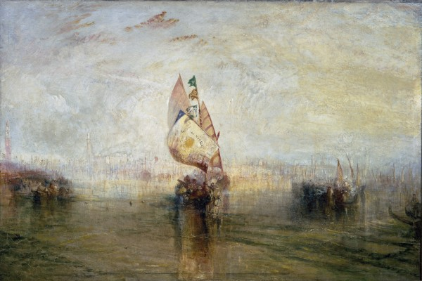 Joseph Mallord William Turner, The Sun of Venice Going to Sea, exhibited 1843. Oil on canvas. Tate, accepted by the nation as part of the Turner Bequest, 1856, N00535. Image © Tate, London 2015