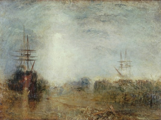 Joseph Mallord William Turner, Whalers (Boiling Blubber) Entangled in Flaw Ice, Endeavoring to Extricate Themselves, exhibited 1846. Oil on canvas. Tate, accepted by the nation as part of the Turner Bequest, 1856, N00547. Image © Tate, London 2015