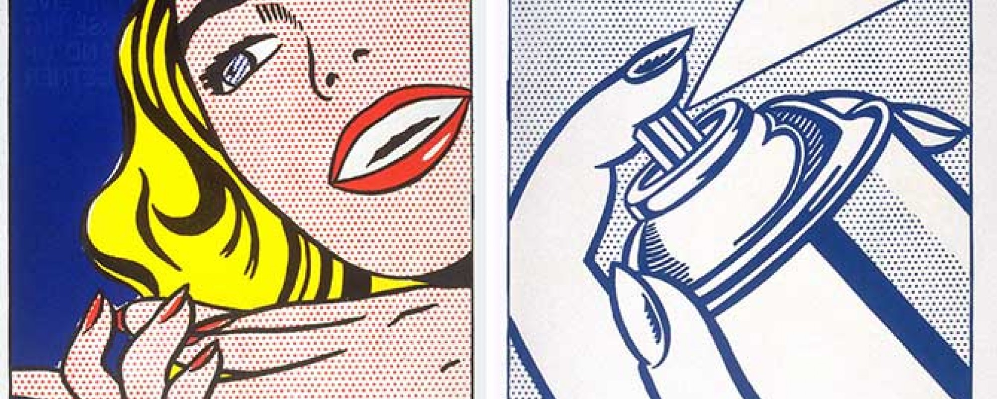 Walasse Ting/Roy Lichtenstein Girl and Spray Can